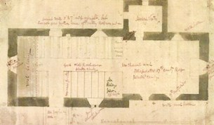 Plan of Putley church, Herefordshire